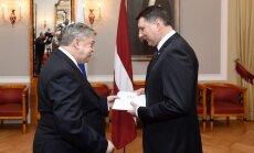 Foto: Vējonis darbam Latvijā akreditē jauno Krievijas vēstnieku
