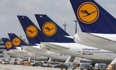 """Во вторник отменены все рейсы Lufthansa в аэропорту """"Рига"""""""