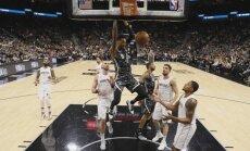 Bertānam trīs punkti; 'Spurs' izcīna piekto uzvaru pēc kārtas