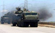 Video: Sīrijas armija ar krievu tehniku dodas uzbrukumā Rakai