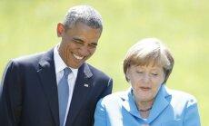 Последний звонок президента Обамы был Меркель и ее мужу