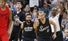 Bertāns nospēlē maz 'Spurs' uzvarētā Ziemassvētku spēlē
