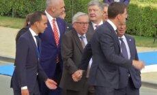 На саммите НАТО глава Еврокомиссии Юнкер едва держался на ногах