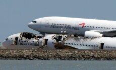 Sanfrancisko avarējušā 'Boeing 777' pasažieru evakuācija sākta ar kavēšanos