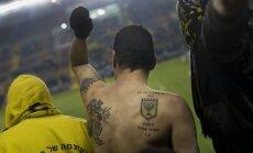Izraēlas policija aizturējusi futbola kluba 'Jelgava' gaidāmās pretinieces līdzjutējus