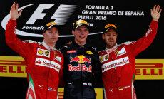 18 gadus vecais Verstapens uzvar Spānijas 'Grand Prix'; 'Mercedes' piloti izstājas