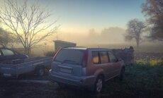 Foto: Piektdienas rīta migla priecē aculiecinieku Kuldīgas novadā