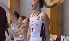 Latvijas U-18 basketbolistēm pārliecinoša uzvara arī EČ otrajā mačā