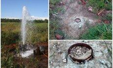 Aizbetonēts Latvijas 'geizers' – slavenais Elkšņu dziļurbums