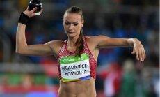 Ikauniece-Admidiņa mešanas disciplīnu sacensībās Tallinā labo personīgo rekordu lodes grūšanā