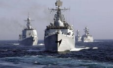 Ķīna un Krievija sāk militārās mācības Dienvidķīnas jūrā