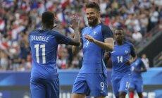Žirū 'hat-trick' nodrošina Francijai graujošu uzvaru pārbaudes spēlē pret Paragvaju