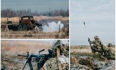 Foto: 'Debesu karavīru' rota Kadagā rāda iznīcinošu uguns jaudu