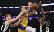 Dāvis Bertāns 'kluss' pēc 'uguņošanas' iepriekšējā mačā; 'Spurs' piekāpjas 'Lakers'