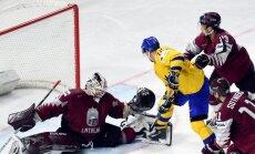 Latvija 'pakutina nervus' Zviedrijai un izstājas no pasaules čempionāta