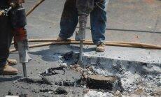 Ремонт теплотрассы на ул. Бривибас: пробки будут до конца недели