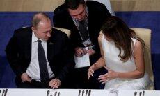 В Кремле рассказали, о чем Путин беседовал с Меланией Трамп