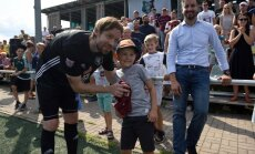 Gorkša futbolista karjeras atvadu spēlē 'Auda' graujoši zaudē Daugavpils komandai