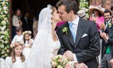 Foto: Beļģu princeses un franču grāfa sapņu kāzas