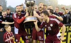 Latvijas futbola izlase nosargā Baltijas kausu