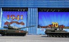 Krievijas jaunais 'Armata' tanks, iespējams, noslāpis parādes ģenerālmēģinājuma laikā