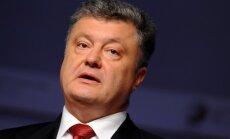 Porošenko: Krievijas 'nomierināšanas' politikai nav rezultātu
