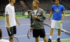 Теннисисты Латвии не сдаются против венгров
