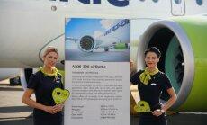 ФОТО: airBaltic представила самолеты Airbus A220-300 на авиашоу в Фарнборо