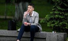 Украинка Савченко в Литве: война продолжается, мы защищаем свободу жить