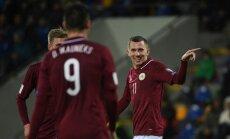 Latvijas futbola izlase FIFA rangā pakāpjas par 19 pozīcijām