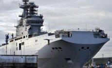 Francija par 'Mistral' kuģiem Krievijai varētu samaksāt miljardu eiro kompensāciju