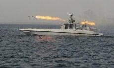 Irānas karaflote izšāvusi raķetes ASV karakuģa tuvumā