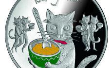 Par gada monētu izraudzīta 'Pasaku monēta I. Pieci kaķi'