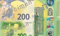 Foto: Publiskotas jaunās 100 un 200 eiro banknotes, kas nonāks apgrozībā nākamgad
