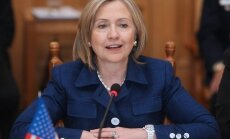 epa02233350 U.S. Secretary of State Hillary Clinton attends a meeting with Ukrainian Foreign Minister Kostyantyn Gryshchenko (not pictured) during their meeting in Kiev, Ukraine 02 July 2010. Hillary Clinton is on a five-country regional trip.  EPA/IGOR V