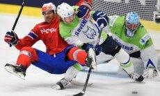 Norvēģijas hokejisti sagādā slovēņiem piekto zaudējumu