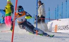 Foto: Gasūnai uzvara FIS slalomā Baltijas kausā Somijā