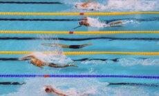 Pirmajā Latvijas čempionāta dienā laurus plūc ārvalstu peldētāji