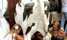 Foto: Aitas, govis un zosis jeb kā lauki ienāca Rīgā