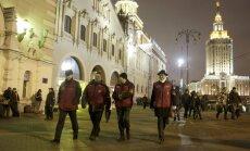Brīvprātīgo brigādes Maskavā ķersta nelegālos imigrantus