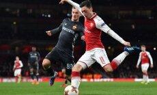 UEFA Eiropas līgas ceturtdaļfināls: 'Arsenal' sagrauj Maskavas CSKA, 'Leipzig' uzvar Marseļas 'Olimpique'