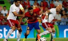 Gruzijas futbolisti sensacionāli pārtrauc Eiropas čempiones Spānijas nezaudēto spēļu sēriju
