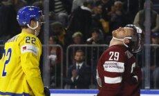 Latvija ar Zviedriju par vietu PČ pusfinālā spēkosies ceturtdienas vakarā