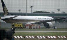 ФОТО: При посадке загорелся Boeing 777 авиакомпании Singapore Airlines