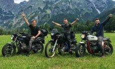 4500 kilometri pāri Eiropai: trīs jautru lietuviešu motobrauciens līdz Šveicei