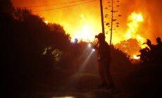 Spānijas dienvidos plosās milzīgs dabas ugunsgrēks