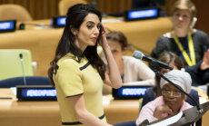ФОТО: Беременная Амаль Клуни продолжает активно работать