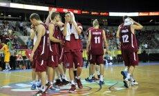 Latvijas U-18 basketbolistiem pietrūkst viena punkta līdz EČ bronzai (+FOTO)