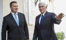 Igaunijas premjers un ASV viceprezidents apsprieduši sadarbību aizsardzībā