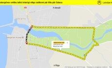 Salacgrīvas svētku laikā īslaicīgi slēgs satiksmi uz tilta pār Salacu